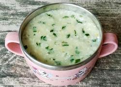 鱼泥蔬菜粥 (宝宝辅食)