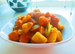 张家口特色菜 土豆熬金瓜