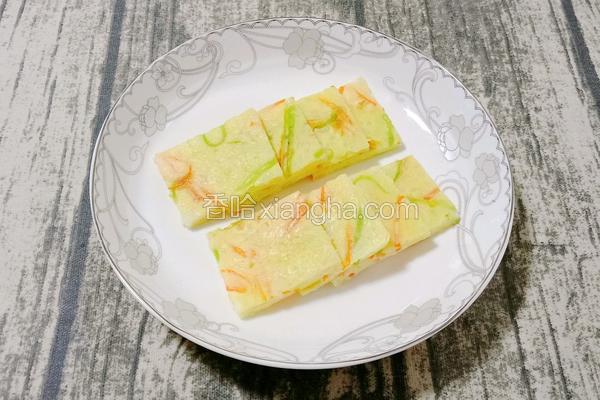 时蔬米饭蛋饼 (宝宝辅食)