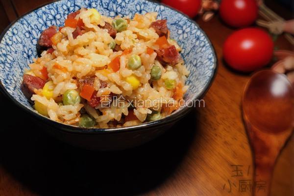 川式-蕃茄腊肠焖饭