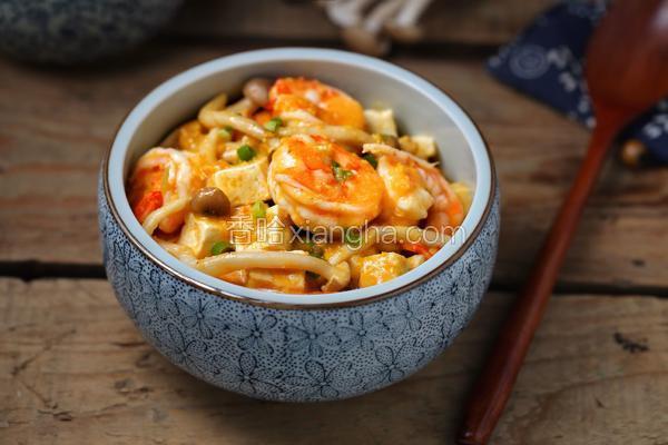 金沙虾仁炖豆腐