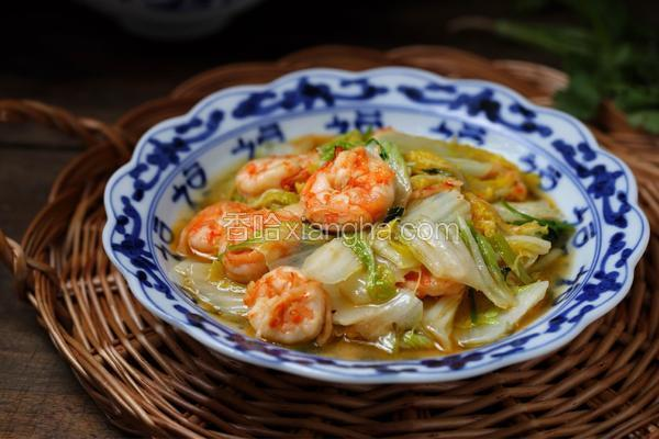 大白菜炒虾仁