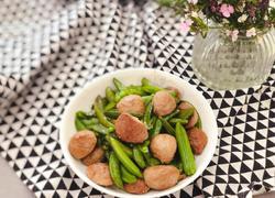 甜豆炒牛肉丸