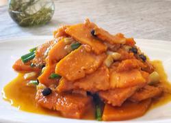 蒜头豆豉炒南瓜