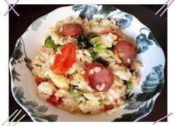 腊肠蔬菜炒饭