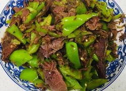 酱牛肉炒青椒