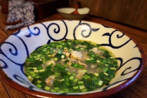小海鲜韭菜汤