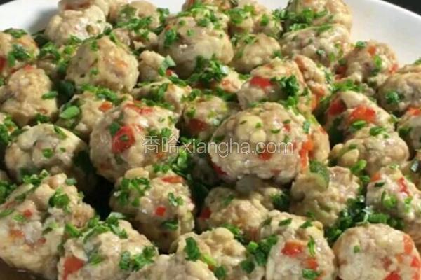 肉泥豆腐丸子