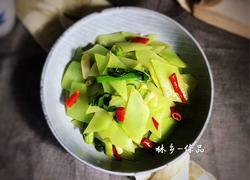 蒜苗炒莴笋