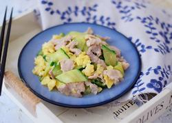 黄瓜鸡蛋炒肉片