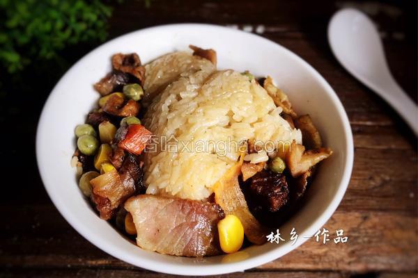 腊肉焖糯米粉