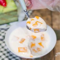 杂果牛奶新西兰花胶冻
