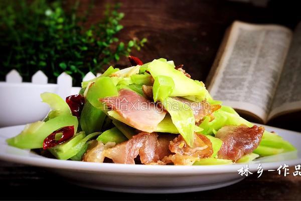 腊肉炒莴笋