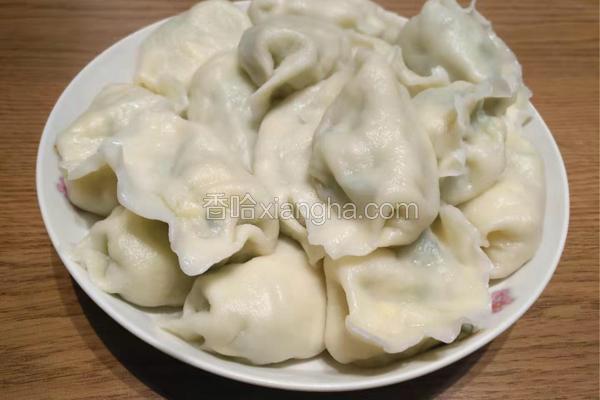 黄瓜虾仁鸡蛋水饺