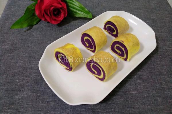 紫薯鸡蛋卷