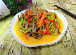 金针菇炒双椒