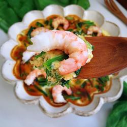 菠菜虾仁蒸蛋