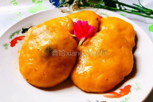 #蒸菜#健康无油蒸南瓜饼