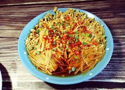#蒸菜#油泼金针菇