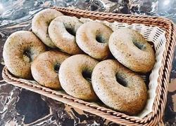 #蒸菜#蒸黑芝麻贝果面包