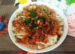 冬菜虾皮蒸茄子