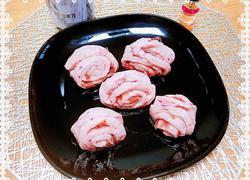 #蒸菜# 玫瑰花酿紫薯花卷