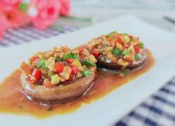 肉末蒸香菇