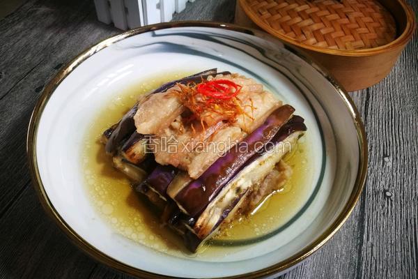#蒸菜#虾酱茄子蒸五花腩