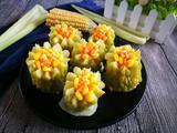 #蒸菜#黄金玉米苦瓜酿的做法[图]