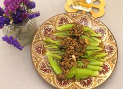 榄菜肉松蒸芥菜胆
