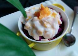 酸奶芒果紫薯泥