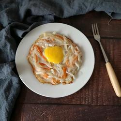 一款简单又好吃的煎饼的做法[图]