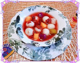 玫瑰花酿汤圆芋圆[图]