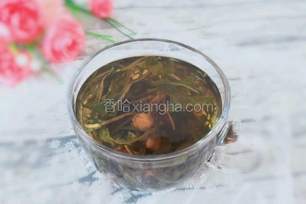 蒲公英玫瑰花茶