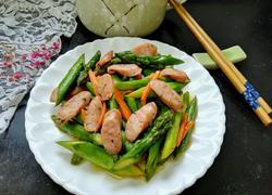 香肠炒芦笋