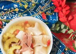 新西兰花胶筒子骨黄豆苦瓜汤