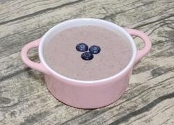 #水果创意菜#蓝莓香蕉奶昔