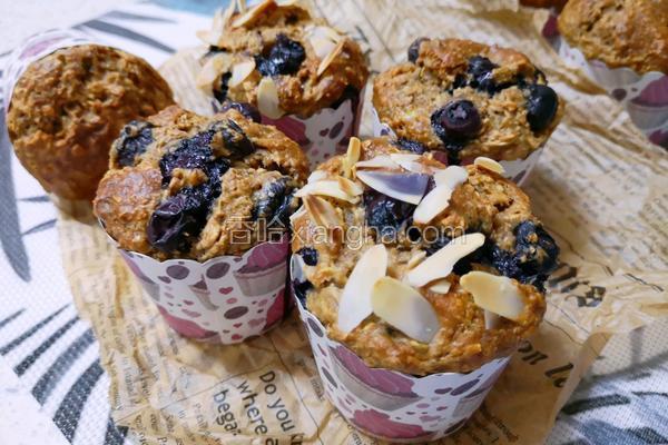 蓝莓全麦燕麦南瓜子马芬
