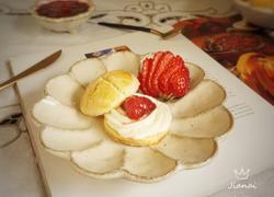 创意水果菜+草莓酱小奶酥