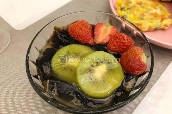蜂蜜水果龟苓膏