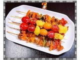 串烧鸡肉果蔬的做法[图]