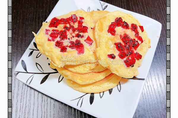 火龙果舒芙蕾松饼