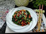 菠菜拌花生米的做法[图]