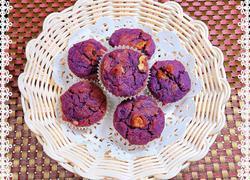 紫薯核桃麦芬蛋糕