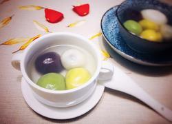 彩色汤圆(传统黑芝麻花生馅)