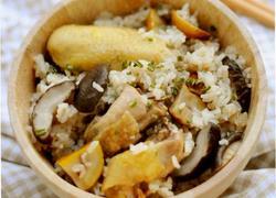 板栗香菇鸡焖饭