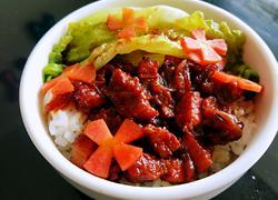 卤肉饭(无油简易版)