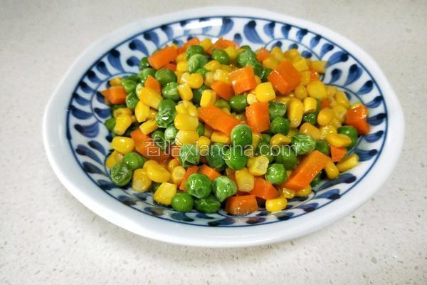 玉米炒豌豆