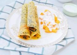12M 黑芝麻鸡蛋卷 宝宝辅食营养食谱菜谱