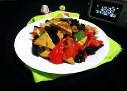 虾米炒豆腐干